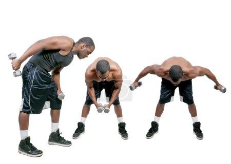 Black Man Lifting Weight
