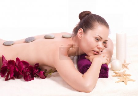Beauty spa woman with flower