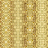 vector seamless golden patterns oriental style