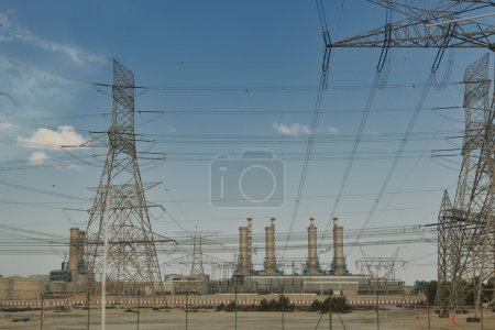 Electrical power lines and towers