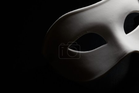 White mask...