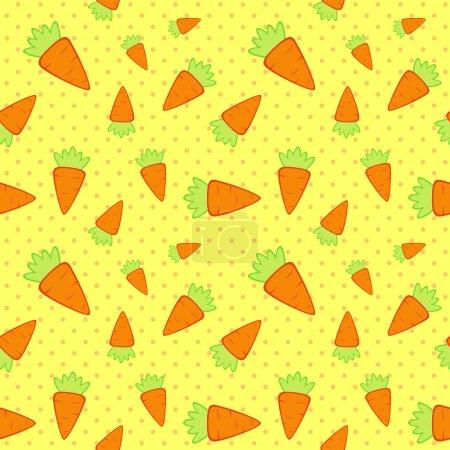 Illustration pour Modèle sans couture de carottes de dessin animé. Illustration vectorielle - image libre de droit