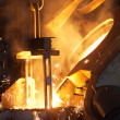 Manufacturing process in a metal foundry in Gliwic...
