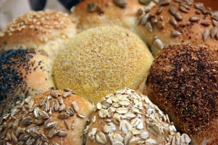 Loaf of Seeded speicality bread, different grains ...