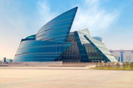 Photo pour Photo de la capitale de la République du kazakhstan. ville d'Astana - image libre de droit
