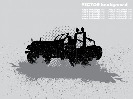 Flyer or card for off-road cars
