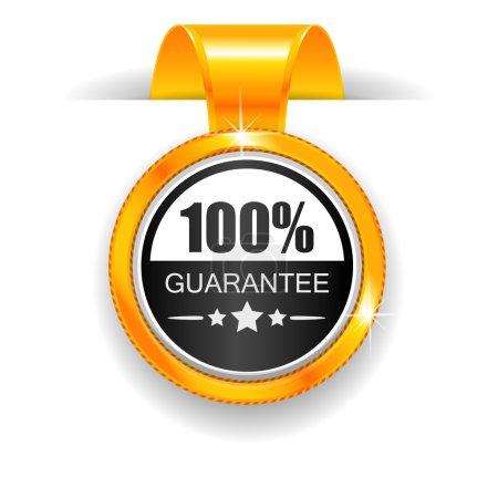 Gold label. 100% Guarantee