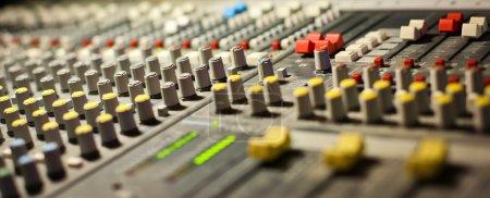 Equipment in audio recording studio...