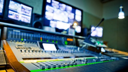 Photo for Equipment in audio recording studio - Royalty Free Image