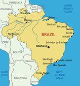 Federative Republic of Brazil - vector map