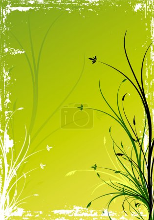 Illustration for Abstract background with floral elements, digital artwork - Royalty Free Image