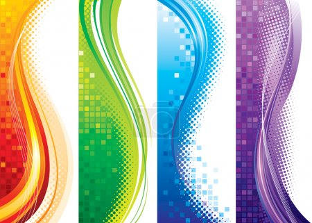 Illustration for Design set of vertical modern backgrounds. - Royalty Free Image
