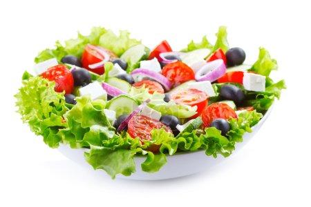 Photo for Greek salad on white background - Royalty Free Image