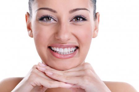 Photo for Beautiful smiling with healthy perfect teeth - Royalty Free Image