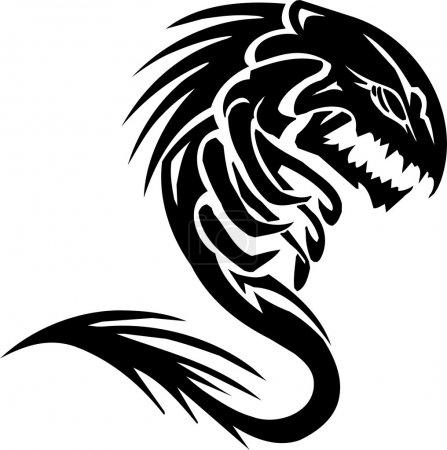 Illustration pour Water Monster - illustration vectorielle. Prêt pour le vinyle . - image libre de droit