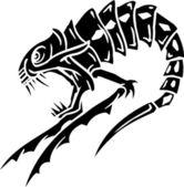 Mořská příšera - vektorové ilustrace. Vinyl připraven