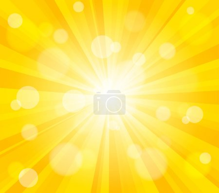 Illustration for Bright vector sun effect background. Dynamic bokeh effect. - Royalty Free Image