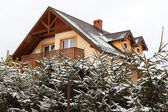 New house in winter scenery