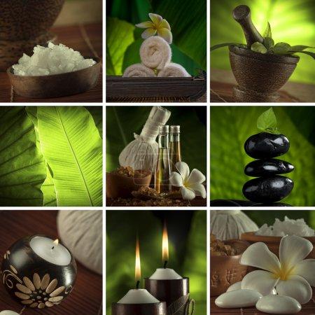 Photo pour Collage thématique Spa composé de quelques images - image libre de droit