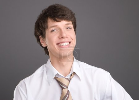 Young businessman smililing portrait