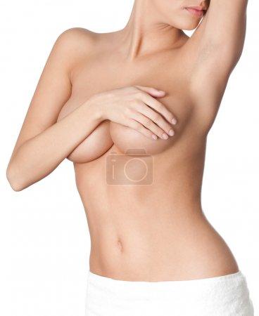 Photo pour Parfait corps nu, isolé, fond blanc - image libre de droit