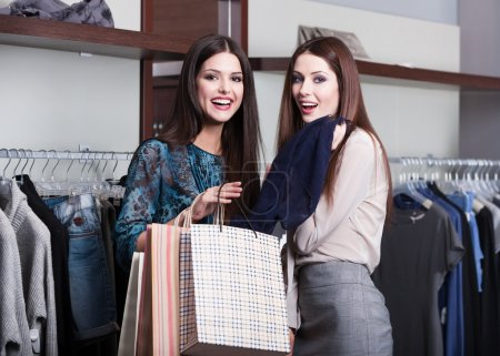 Two friends go shopping