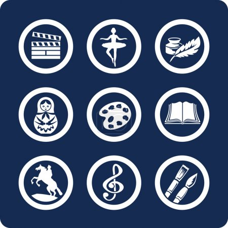 Illustration for Culture and Art (9 icons - part2) - Royalty Free Image