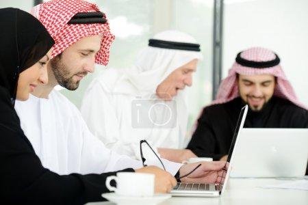 Arabic business at work ,teamwork