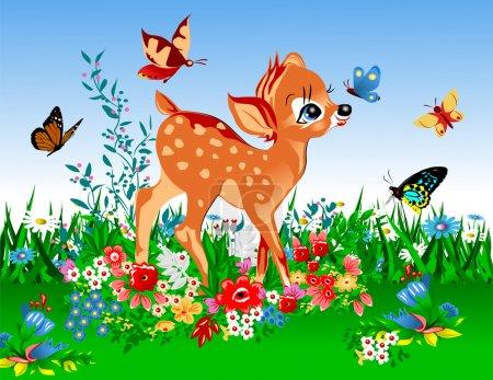 Les plus petits cerfs au printemps