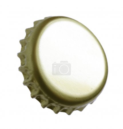 Beer stopper close up on a white background....