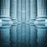 Close-up of a bright classical pillar...