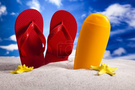 Photo pour Summer Beach Contexte - image libre de droit
