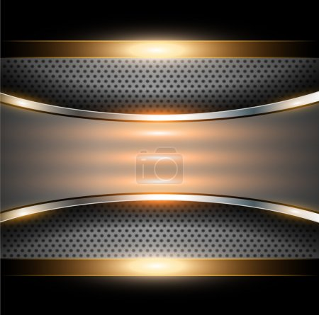 Illustration for Abstract background elegant gold metallic, vector illustration. - Royalty Free Image