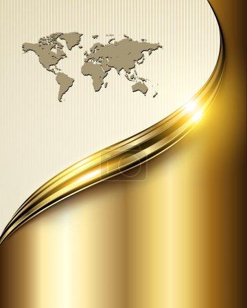 Illustration for Business background golden lines, vector. - Royalty Free Image
