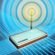 Wireless modem transmitting digital data. Digital ...