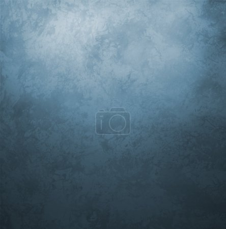 Photo for Dark blue grunge old paper vintage retro style background - Royalty Free Image