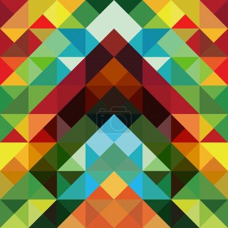 Photo pour Effet optique abstrait fond motif triangle coloré. Fichier vectoriel stratifié pour faciliter la manipulation et la coloration. - image libre de droit