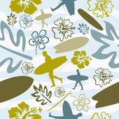 Summer Surfing seamless pattern