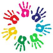 Vícebarevné rozmanitost rukou kruh
