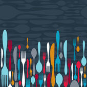 Cutlery silhouette icons background