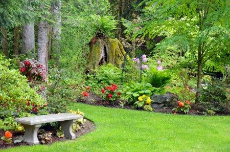 Photo pour Jardin botanique luxuriant du nord-ouest du Pacifique - image libre de droit