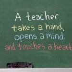 Inspiration phrase for teacher appreciation. Writt...