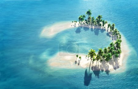 Tropical reef atoll