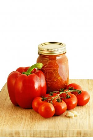Spaghetti sauce ingredients and preserve