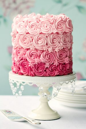 Photo for Ombre cake in shades of pink - Royalty Free Image
