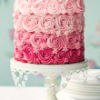 Ombre cake in shades of pink...