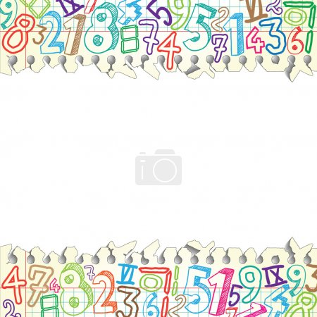 Background made of papers with colorful numbers...
