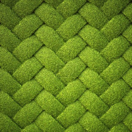 Photo for Rattan from grass. background texture. - Royalty Free Image