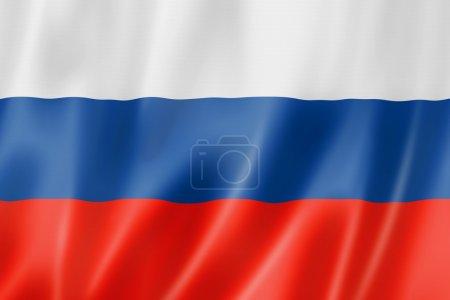 Photo pour Drapeau de la Russie, rendu en trois dimensions, texture satin - image libre de droit