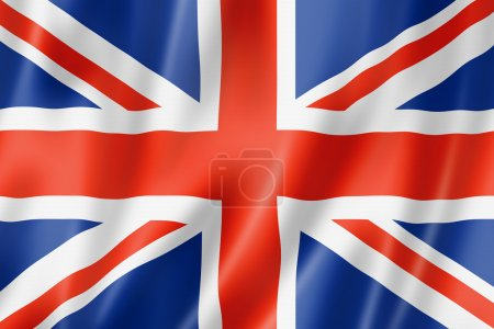 United Kingdom, UK flag, three dimensional render,...